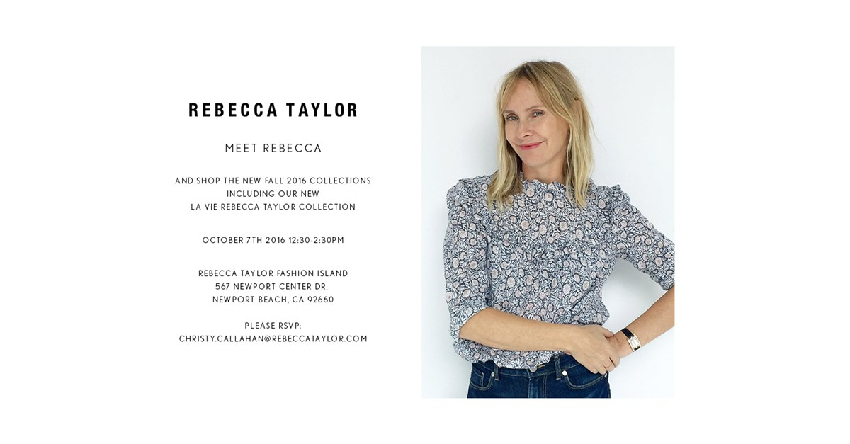 Rebecca Taylor Personal Appearance